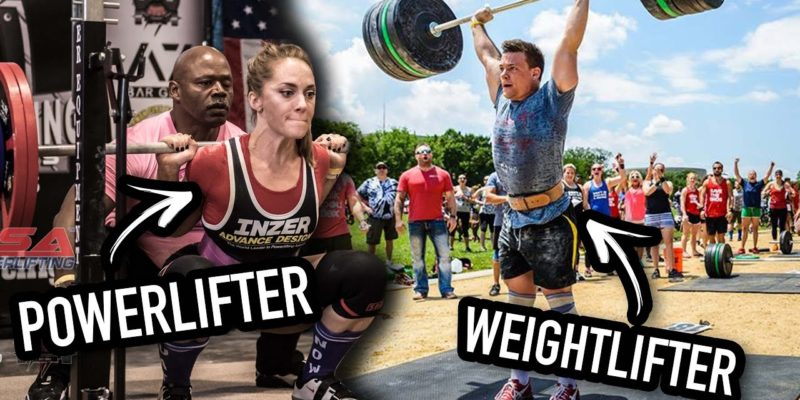 differenze weigthlifting powerlifting