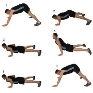 esercizi a corpo libero hindu push up