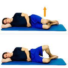 Tipico esercizio chiamato clamshell