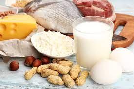 Foto di tanti alimenti proteici